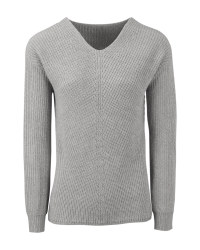 Avenue Ladies' Grey Knitted Jumper