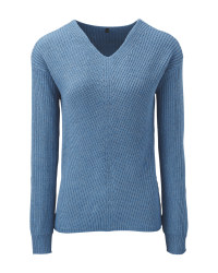 Avenue Ladies' Blue Knitted Jumper