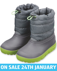 Crane Grey/Green Child's Snow Boots