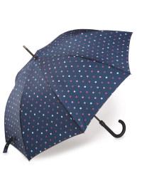 Polka Dot Walking Stick Umbrella