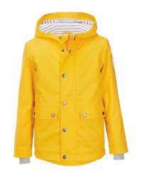 Lily & Dan Kids' Yellow/Grey Coat