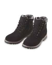 Boy's Black Winter Boots