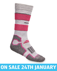 Kids' Light Grey Ski/Snowboard Socks