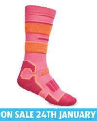 Kids' Pink Ski/Snowboard Socks