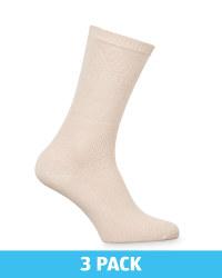 Nude Diabetic Friendly Socks 3 Pack