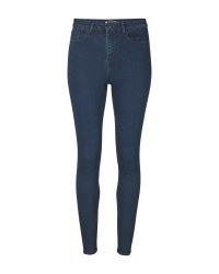 Ladies' Indigo High Waisted Jeans