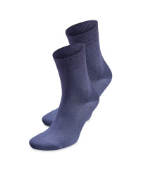 Ladies' Blue Comfort Socks 2 Pack
