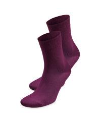 Ladies' Red Comfort Socks 2 Pack