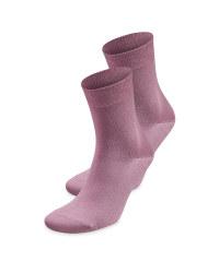 Ladies' Rose Comfort Socks 2 Pack