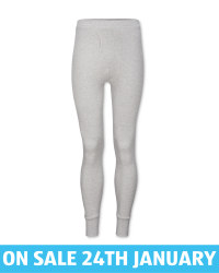 Men's Grey Thermal Long Johns
