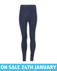 Men's Navy Thermal Long Johns