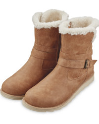 Avenue Ladies' Brown Comfort Boots