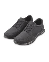 Men's Black Casual Comfort Shoes