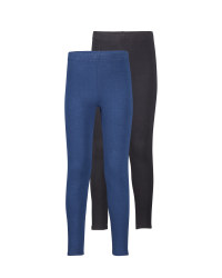 Girls' Black/Navy Winter Leggings