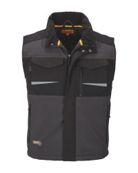Men's Workwear Grey Softshell Gilet