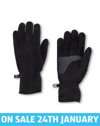 Crane Black Fleece Gloves