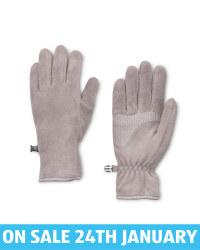 Crane Grey Fleece Gloves
