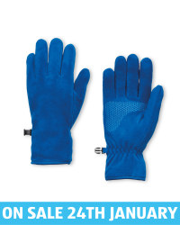 Crane Blue Fleece Gloves