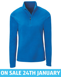 Crane Ladies' Blue Ski Fleece Shirt