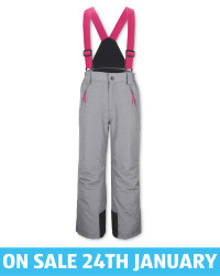 Crane Kids' Grey Ski Salopettes