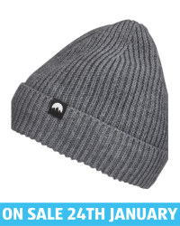 Adult's Grey Fleece Lined Beanie