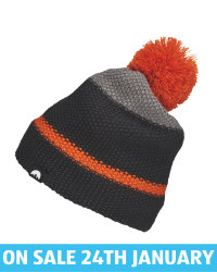 Adult's Orange/Black Pom Knitted Hat