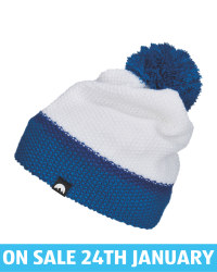 Adult's Blue/White Pom Knitted Hat