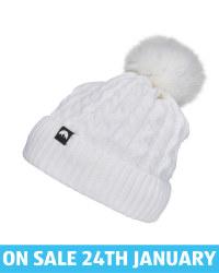 Adult's White Pom Pom Knitted Hat