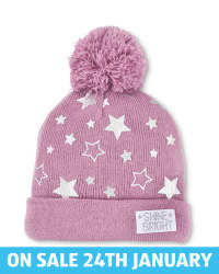 Crane Kids' Star Print Knit Beanie