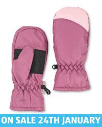 Crane Kids' Pink Mittens
