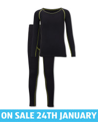 Kids' Black Ski Base Layer Set