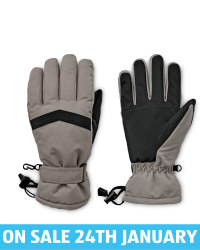Avenue Grey/Black Ski Gloves