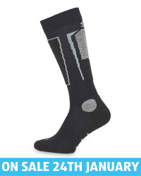 Adult's Navy Ski Socks With Silk