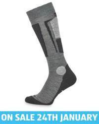 Adult's Grey Ski Socks With Silk