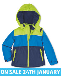 Crane Kids' Green/Blue Snow Jacket