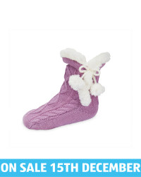 Lily & Dan Kids' Lilac Slipper Socks
