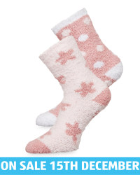 Avenue Rose Fluffy Socks 2 Pack