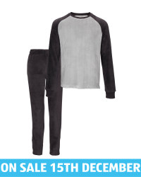 Men's Black/Grey Loungewear Set