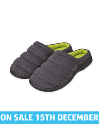 Avenue Men's Anthracite Padded Mules