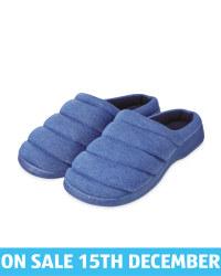 Avenue Men's Blue Padded Mules