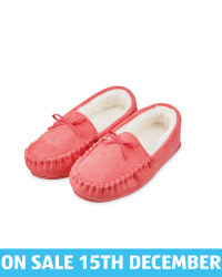 Ladies' Moccasin Bow Slippers