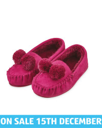 Ladies' Moccasin Pom Pom Slippers
