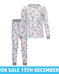 Lily & Dan Kids' Grey Heart Pyjamas