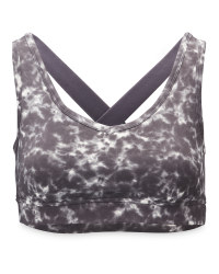 Ladies' Marble Print Yoga Sports Bra