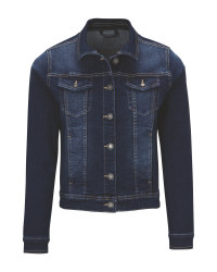 Ladies' Dark Blue Denim Jacket
