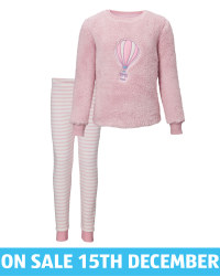 Kids' Rose Balloon Fleece Pyjamas