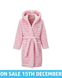 Kids' Pink Stripe Dressing Gown