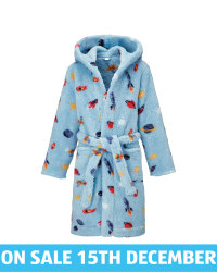 Kids' Blue Rocket Dressing Gown