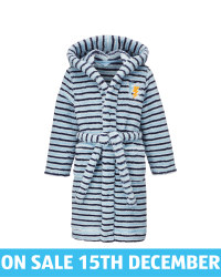 Kids' Blue Stripe Dressing Gown