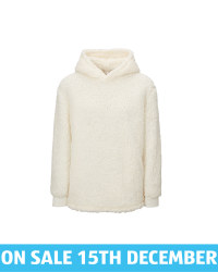 Avenue Ladies' White Borg Hoody